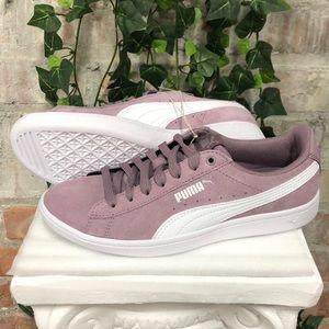 NWT PUMA Ladies Vikky Suede Sneaker Elderberry
